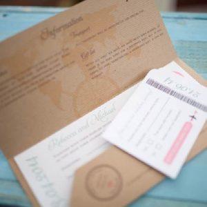 invitaciones de boda billete de avión