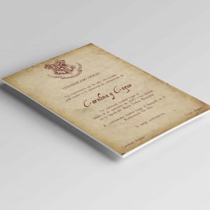 Invitaciones de boda Harry Potter