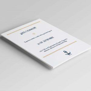 Invitaciones de boda marineras