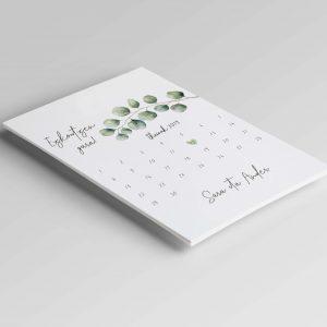 invitaciones de boda calendario