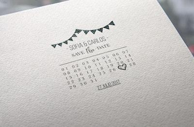 sello con calendario festivo