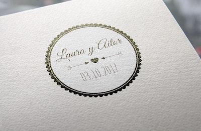 sello de boda elegante