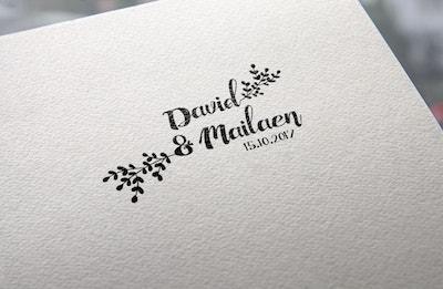 sellos de boda con ramitas