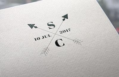 sellos letras flechas